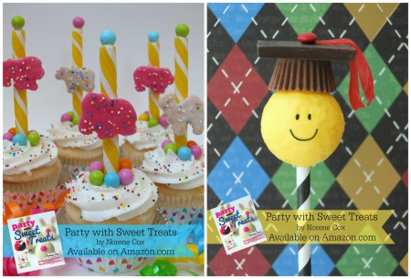Circus Cookie Cupcakes, Graduation cake pop, Party with Sweet Treats book by Norene Cox, Party Pinching, edible crafting, cute food, easy desserts for kids