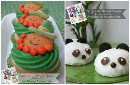 St. Patrick's Day Cupcakes, Panda cakes, Party with Sweet Treats book by Norene Cox, Party Pinching, edible crafting, cute food, easy desserts for kids