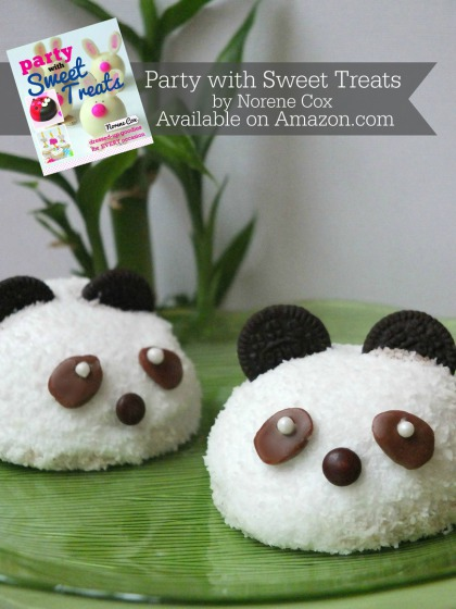 Panda Snack Cakes, Chinese New Year dessert ideas, Party with Sweet Treats book by Norene Cox