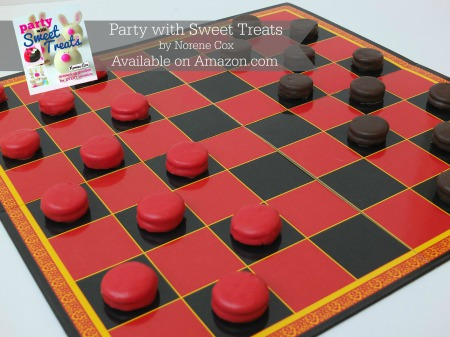 peanut butter checkers, game night food ideas,  Party with Sweet Treats book by Norene Cox