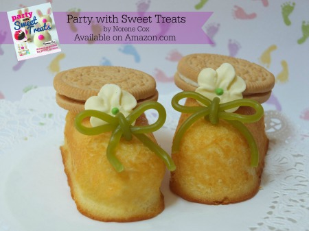 Twinkie Toes, easy baby shower food dessert ideas, baby shower cakes,  Party with Sweet Treats book by Norene Cox