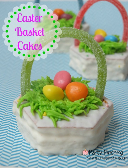Easter Basket Cakes, Little Debbie Easter Basket cakes, easy Easter dessert ideas