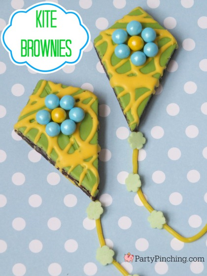 Kite Brownies, Little Debbie Kite Brownies, PartyPinching.com,, Spring dessert ideas