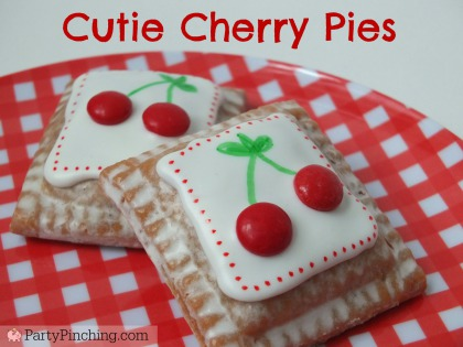 Cutie pies, cherry pies, Little Debbie Cherry Pies, PartyPinching.com,, Spring dessert ideas