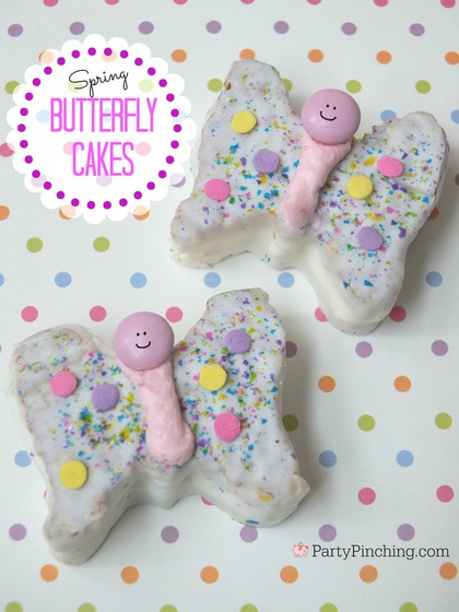 Little Debbie Butterfly Cakes, PartyPinching.com,, Spring dessert ideas