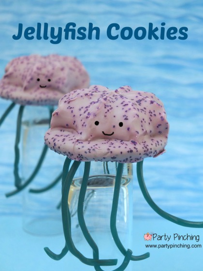 Little Debbie Jellyfish Cookies, cute cookies, beach cookies, easy summer dessert ideas, beach theme party, summer party ideas, under the sea party ideas