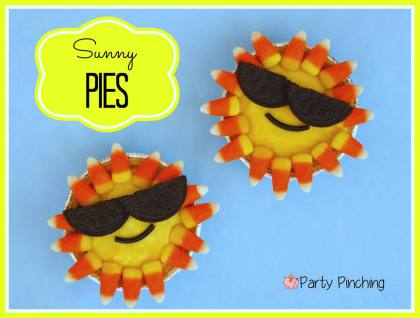 sunny pies, cutie pies, pudding pies, summer treats, easy summer desserts, kid friendly food, cute food