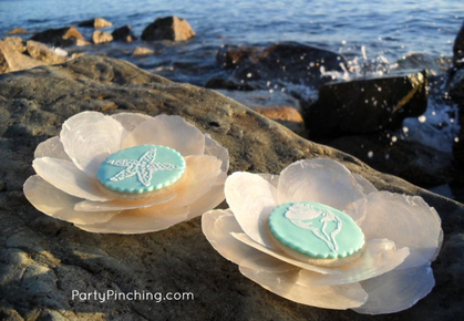 stenciled cookie, beach cookie, seashell cookie, beach party, summer party, beach theme cookie desserts