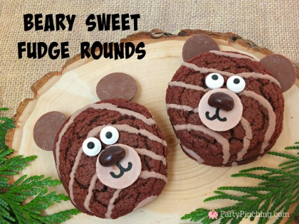 Little Debbie Fudge Rounds, cute food, bear snack, camping food, party pinching