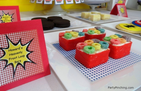 Big Bang Theory, big bang theory party, howard's froot loop bars