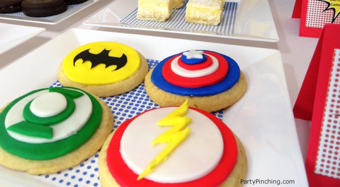 Big Bang Theory Party, superhero cookies
