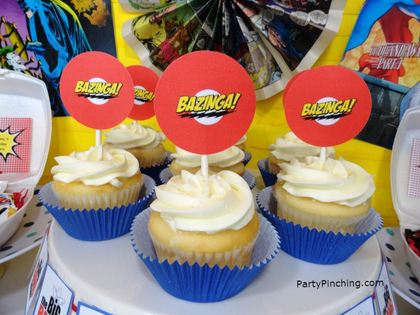 Big Bang Theory Party, bazinga cupcakes