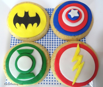 Big Bang Theory Party, superhero sugar cookies