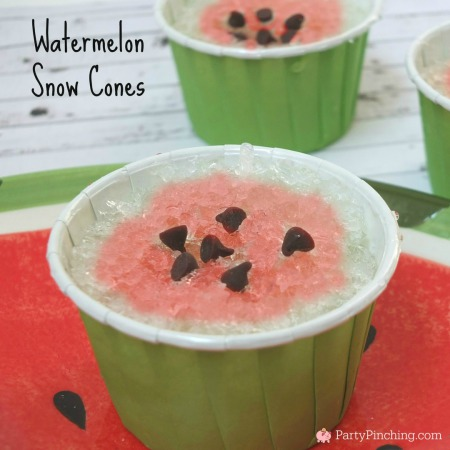 snow cone ideas, cute snow cones, watermelon snow cones, summer snow cones, homemade snow cones