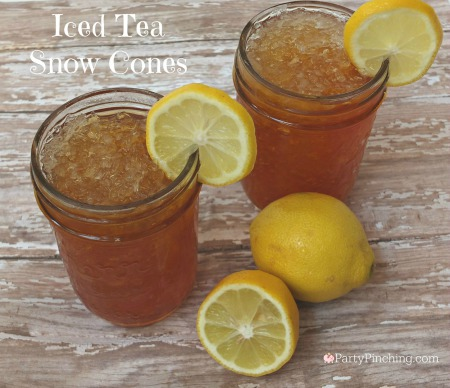 snow cone ideas, iced tea snow cones, cute snow cones, summer snow cones, homemade snow cones