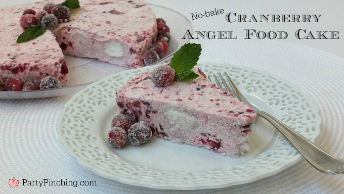 Thanksgiving cranberry whip angel food cake