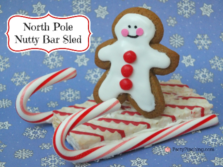 Little Debbie North Pole Nutty Bars, Cute Christmas Dessert ideas for kids, Easy Christmas desserts, Party Pinching, cookie sled