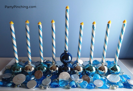 candy menorah, blue and white menorah, craft menorah, hanukkah menorah, hanukkah craft, hanukkah candy