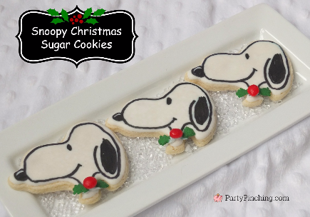 Snoopy sugar cookies, Peanuts, Charlie Brown Christmas party food ideas, Charlie Brown Christmas treats