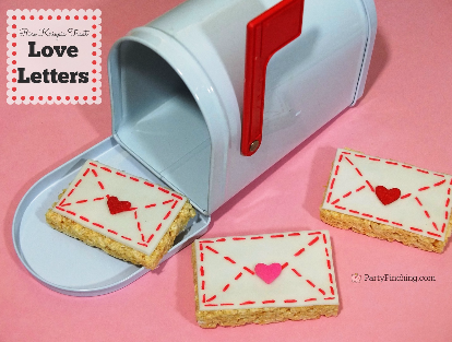 Rice Krispie Treat Love Letters, Valentine's Day treats, easy Valentine's day desserts for kids, Valentines day party classroom ideas for kids, fun food, cute food