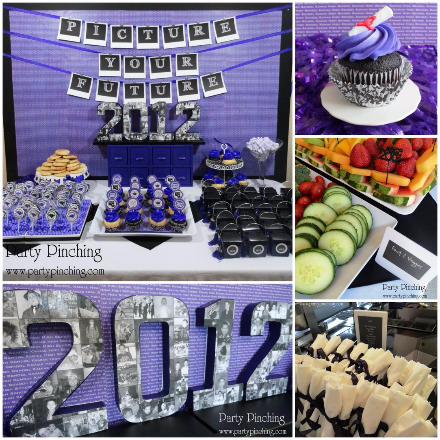 graduation centerpiece collage, grad ideas, grad party ideas, graduation open house ideas, graduation photo tutorial,