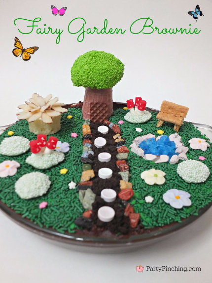 fairy garden cupcakes, fairy garden brownie, fairy garden ideas, theme fairy gardens, fairy garden party, cute fairy ga