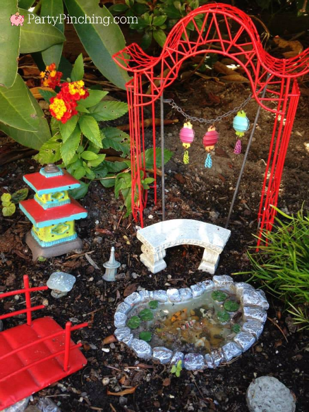 Japanese Fairy Garden, fairy garden ideas, theme fairy garden, fairy garden bridge, fairy garden koi pond