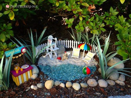 fairy garden beach, fairy garden ideas, theme fairy garden