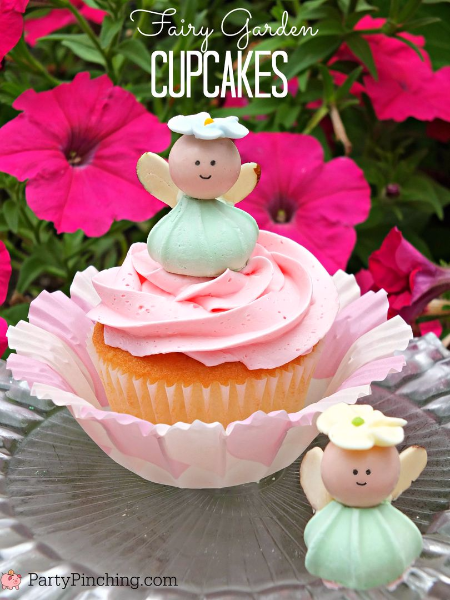 Fairy cupcakes, fairy garden party ideas, fairy food, cute fairy garden party for kids