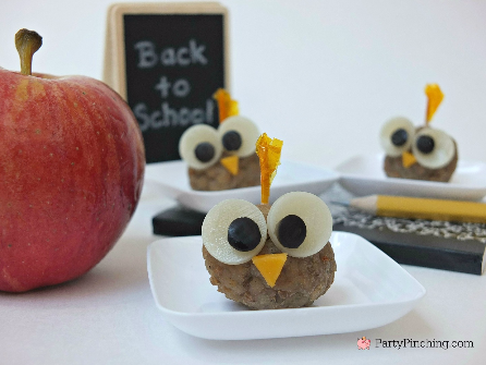 Farm Rich, Farm Rich Italian Meatballs, owl snack, cute food, after school snacks, back to school food ideas, school lunch, owl party theme, owl meatballs