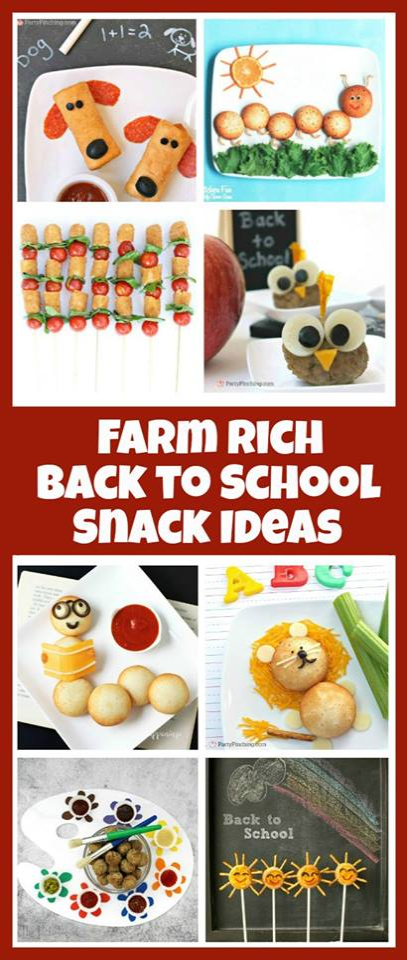 back to school snack ideas, Farm Rich, cute snack food, fun food blogger retreat