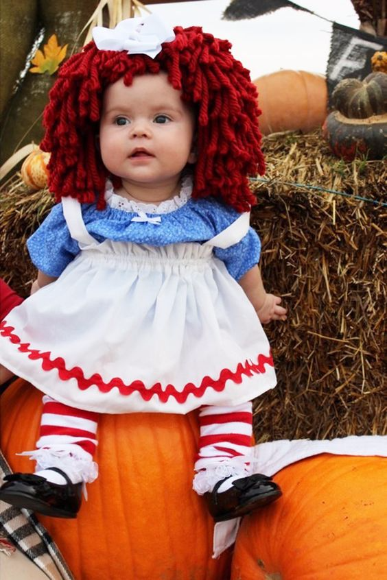Raggedy Ann baby costume Best Halloween costumes for kids DIY kids costumes easy  sc 1 st  Party Pinching & Best Halloween costume ideas kids toddlers babies infants pets DIY ...