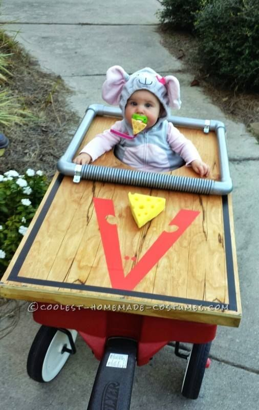 baby mouse trap costume, easy DIY costume, Best Halloween costumes for kids, DIY kids costumes, easy kids costumes to make, adorable and cute Halloween costumes for toddlers and infants, Halloween party ideas