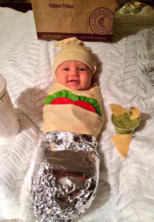 Baby burrito Chipotle costume Best Halloween costumes for kids DIY kids costumes easy  sc 1 st  Party Pinching & Best Halloween costume ideas kids toddlers babies infants pets DIY ...