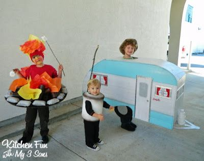 Camping costume, marshmallow costume, trailer costume for kids and baby,Best Halloween costumes for kids, DIY kids costumes, easy kids costumes to make, adorable and cute Halloween costumes for toddlers and infants, Halloween party ideas