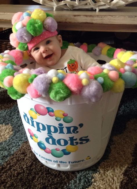 baby Dippin' Dots costume, Best Halloween costumes for kids, DIY kids costumes, easy kids costumes to make, adorable and cute Halloween costumes for toddlers and infants, Halloween party ideas