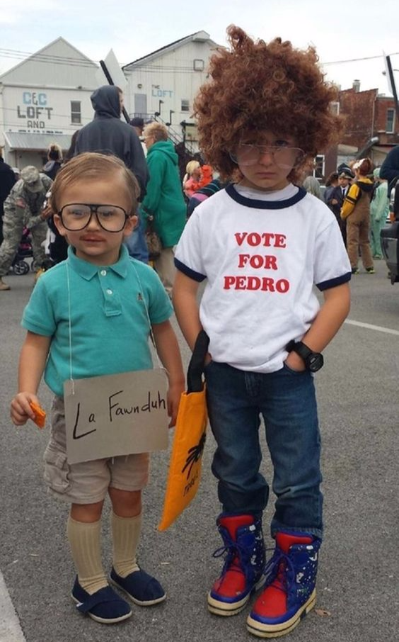 Kids Napoleon Dynamite vote for Pedro Kip costume, Best Halloween costumes for kids, DIY kids costumes, easy kids costumes to make, adorable and cute Halloween costumes for toddlers and infants, Halloween party ideas