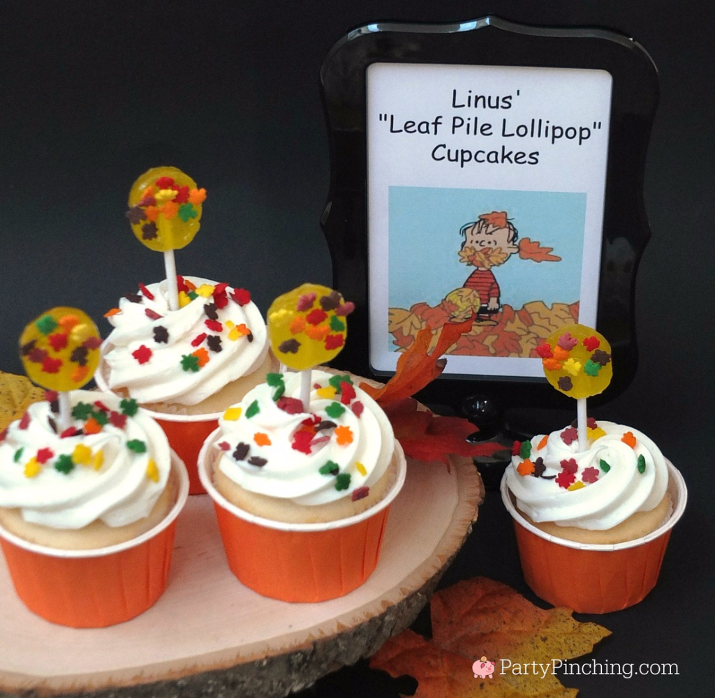 Great Pumpkin Charlie Brown, Halloween party ideas, , Snoopy, Linus, Lucy, 50th Anniversary Great Pumpkin, Great Pumpkin pudding cups, Beagle flying ace, Snoopy cookies, Peanuts gang, Linus' leaf pile lollipop