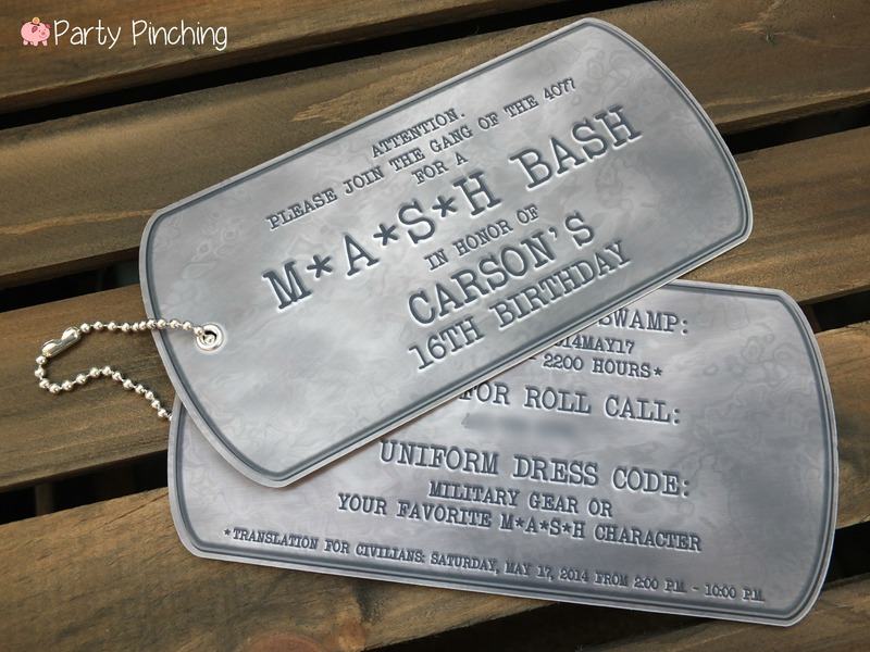 Mash Bash, Mash tv show, Mash television show, Mash theme party, army