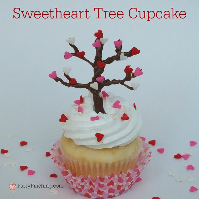 Valentine S Day Heart Sweetheart Tree Chocolate And Sprinkles Cupcakes