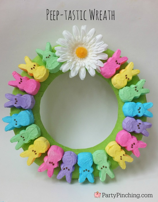 Peep Easter Wreath Easy Bunny Decoration Door Fun