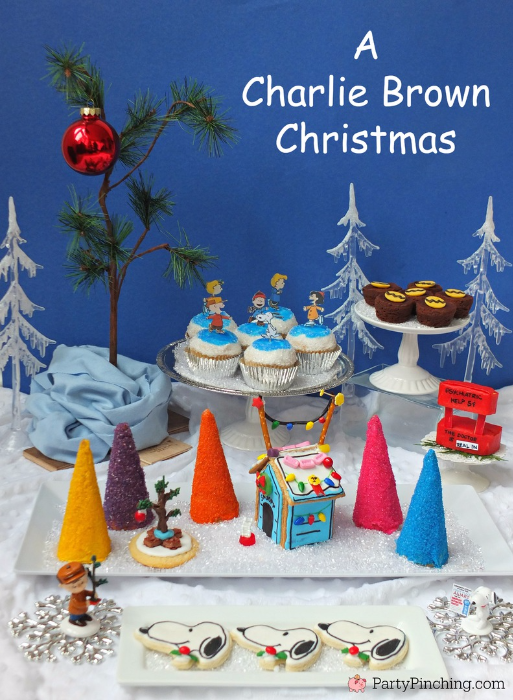 charlie brown christmas party peanuts charlie brown christmas food charlie brown christmas cupcakes - Christmas Theme Party Ideas
