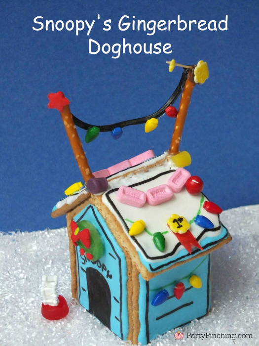 snoopys gingerbread doghouse peanuts charlie brown christmas party charlie brown christmas ideas