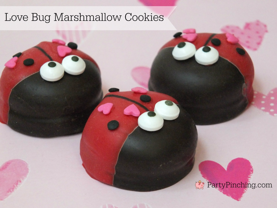 Love Bug Cookies, Easy Valentineu0027s Day Cookies, Cute Valentineu0027s Day  Desserts For Kids,