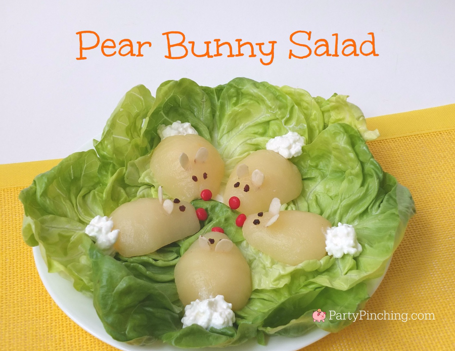Easter Dinner Party Ideas Part - 50: Pear Bunny Salad, Easter Brunch Ideas, Easy Easter Treat Ideas For Kids,  Cute